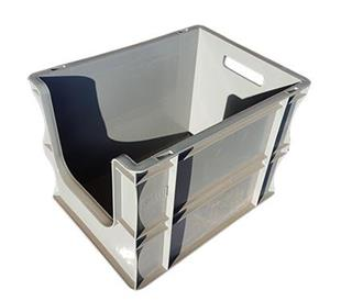 2244 Open Front Picking Box Grey 400x300x290mm 25L