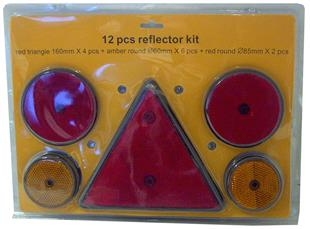 6074 Reflector Kit Triangular/Round 12 Pieces