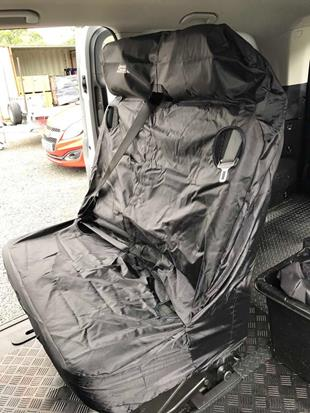 16019 Seat Cover Double Van Black C10