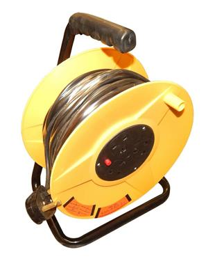 5106 Extension Reel 25M 240V Twin 13amp 3 pin sockets