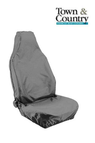 7077 Seat Cover Stretch Univ Front Single Large Grey