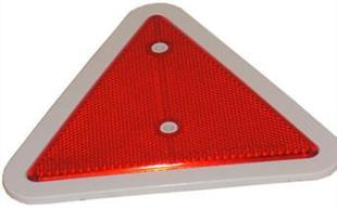 6049 Reflector Triangular Red 180mm White Surround