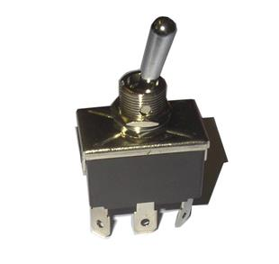 4904 Switch Toggle 3 Pos. 250V/6A - 6 Spade Terminals