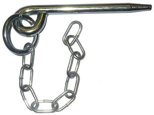 5177 Round Cotterpin and Chain 109mm x 10mm dia