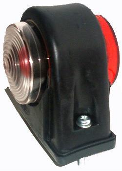 861 Lamp Marker Rubber Red Clear 12V 5W