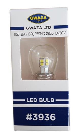 3936 LED Auto Bulb 360 deg 10-30V T25 1156-1157 Socket