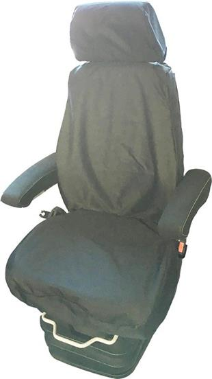 7062 Seat Cover Tailored High Back Tractor Plant Black