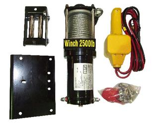 9176 Winch Electric 1100kg suits ATV 8m cable & hook