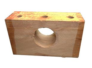 10614 Bearing Wooden Roller Block suits Flemming