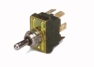 4900 Switch Toggle 2 Pos. 250V/6A - 3 Spade Terminals