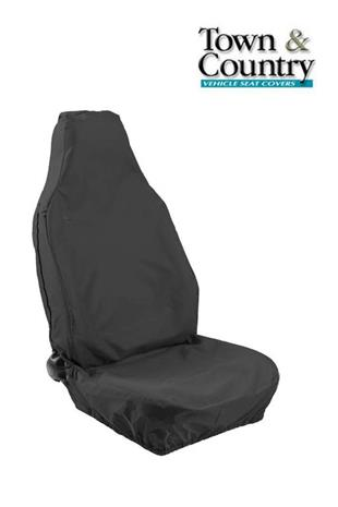 7079 Seat Cover Stretch Univ Front Single Large Black