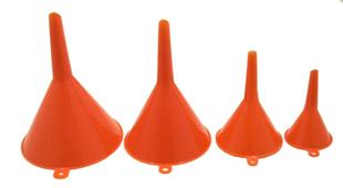 8802 Funnel Set Plastic 4 Piece 40   110mm   Amber