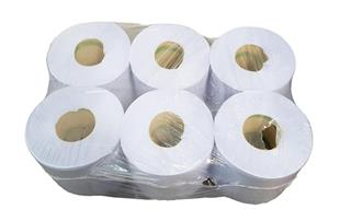 2978 Paper Roll - Blue - 2Ply - W 195mm  6 in Pack