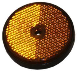 6067 Reflector Round Amber 60mm