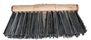 4008 Broom Base  Plastic Black White  13 x 4 inch
