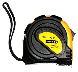 2046 Tape Measure 10 metre - with rubber grip